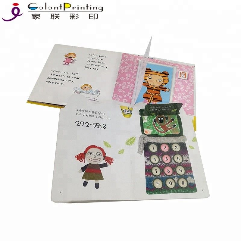 350gsm Art Paper Printing Services Custom Delicate Children Educational Board Book